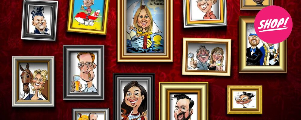 Portrait caricatures from € 19.95